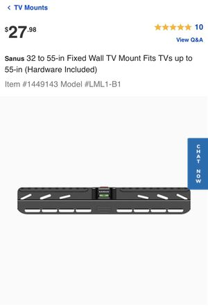 Sanus 22 to 55-in Fixed-Position TV Wall Mount for Sale in Arcadia, CA
