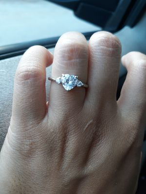 Size 6 real silver heart shape ring de plata for Sale in Houston, TX