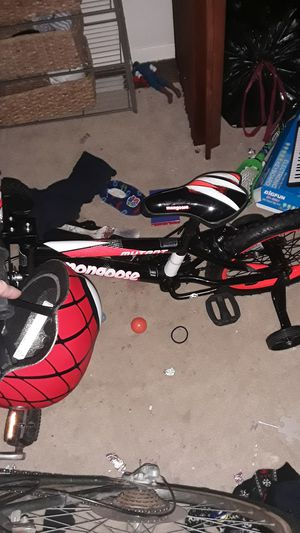 Kids bike 16 in and helmet for Sale in MARTINS ADD, MD