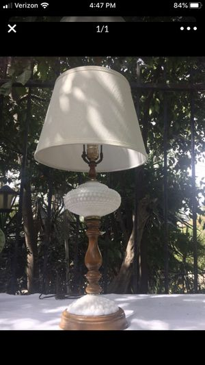 Antique Milk Glass Lamp for Sale in Los Angeles, CA