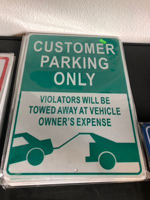 Customer parking only sign for Sale in Olympia, WA