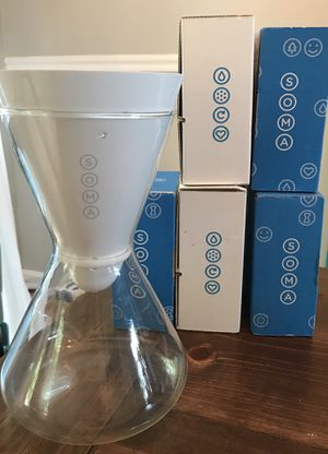 5 Soma water filters and carafe for Sale in Darnestown, MD