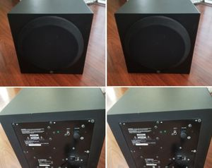 2 Yamaha powered subwoofer speaker 10 inch for Sale in Long Beach, CA