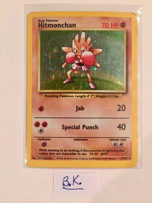 Hitmonchan Pokemon Card #7/102 for Sale in Riverside, CA