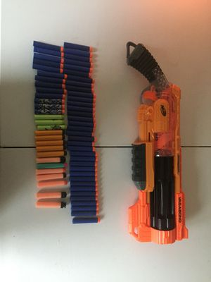 Nerf Gun Revolver + 64 Darts for Sale in Pflugerville, TX