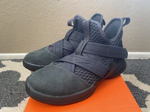 New Nike Lebron Soldier XII Kids GS 4Y Basketball Shoes AO2910-002 Triple Black for Sale in Riverside, CA