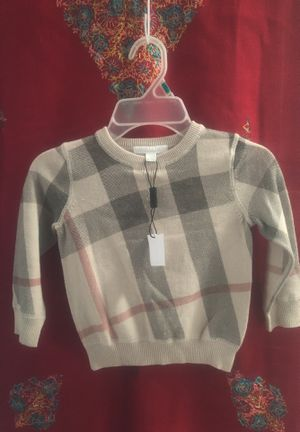 Authentic Kids Burberry long polo sweater 2y for Sale in Miami, FL