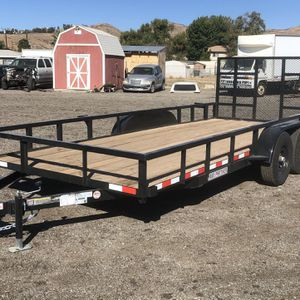 2020 Utility Trailer 10k Tandem Axle 18x7 for Sale in Yucaipa, CA