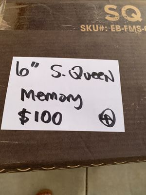 """Queen 6"""" short memory foam mattress. Good for campers or trailers. New in box. for Sale in Stockton, CA"""