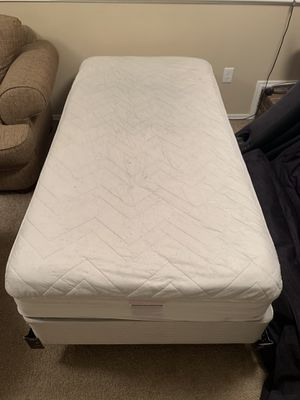 Twin Mattress Firm full set innerspring mattress hardly used for Sale in Denver, CO