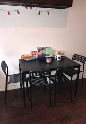 Black Kitchen Dining Table Set IKEA for Sale in Burbank, CA