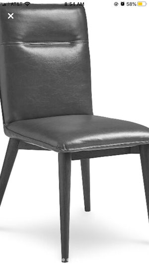 Grey Faux Leather Macy's Dining Chairs x4 for Sale in Denver, CO