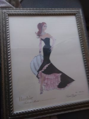BARBIE FASHION PAINTING BY ROBERT BEST WITH COA for Sale in Peoria, AZ