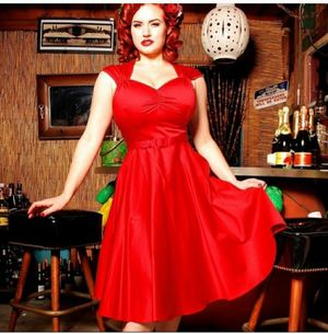 Pinup couture red dress for Sale in Fort Worth, TX