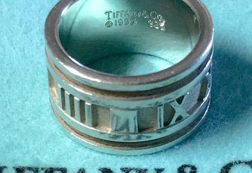 Tiffany & Co Atlas ring wide size 5.5 for Sale in Elko,  NV