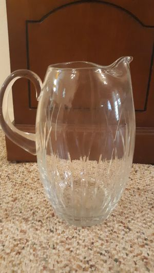 Vintage crystal pitcher for Sale in Port Neches, TX