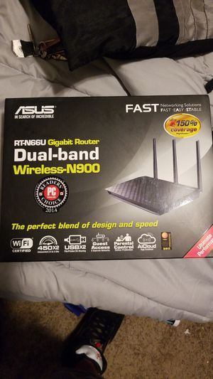 Asus dual-band wireless n-900 Gigabit Router set up for Sale in Denver, CO