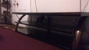 TV stand glass brand new just put together for Sale in Cleveland, OH