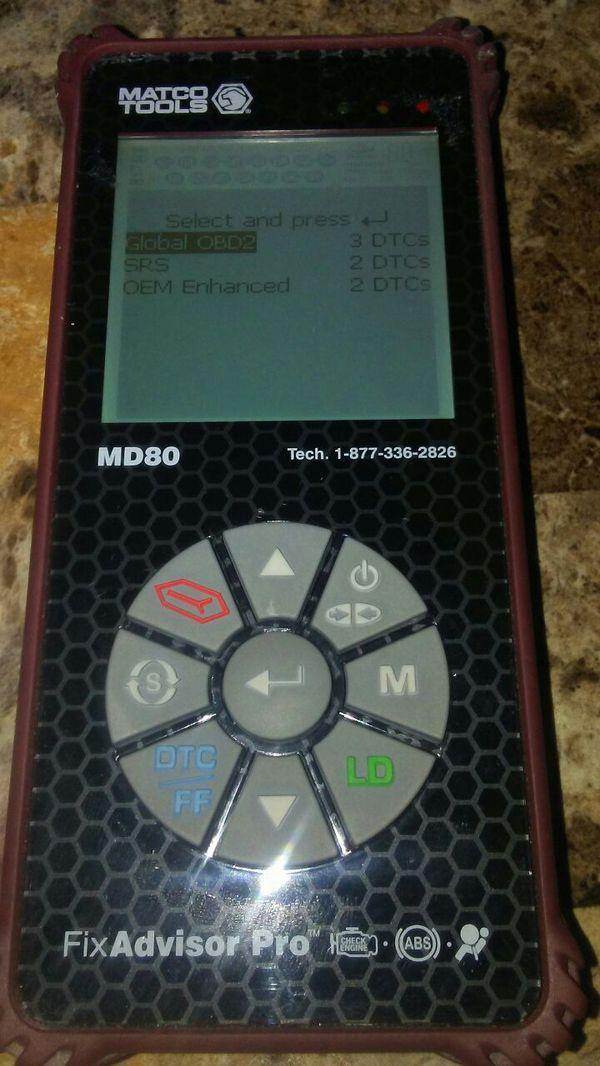 Matco tool scanner Fix Advisor pro MD-80 for Sale in San Antonio, TX -  OfferUp