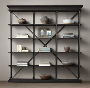 RESTORATION HARDWARE Parisian Cornice Triple Shelving, Storage for Sale in Houston, TX