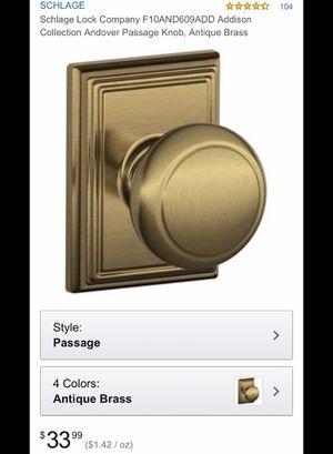 Antique brass door handles for Sale in Glendale, AZ