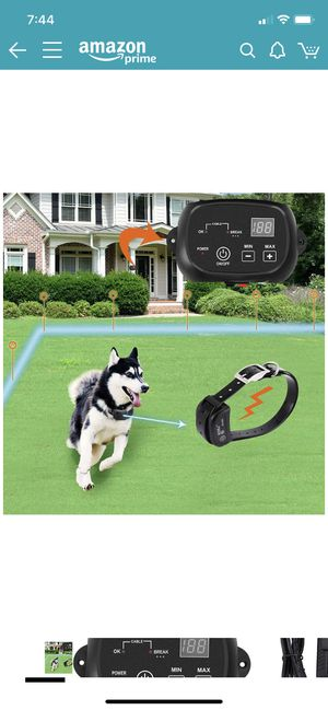 NEW & HALF OFF RETAIL! Electric Dog Fence Containment System for 2 Dogs. Paid $129.99 on Amazon. Receipt in pics. for Sale in Goodlettsville, TN
