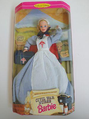 Civil War Nurse Barbie Mattel 1995 for Sale in Kent, WA