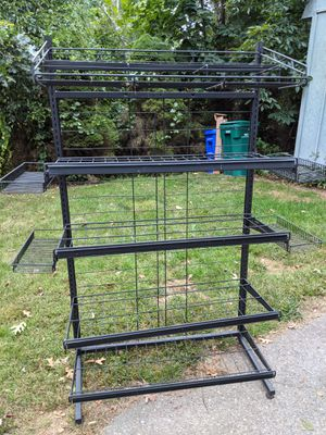 "Black shelves, frame is 61.5"" high, 37"" wide, 17"" deep for Sale in South Attleboro, MA"