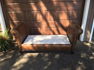 Rattan Bench -needs cushion(s) for Sale in Beaverton, OR