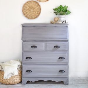 Grey and teal secretary for Sale in Covina, CA