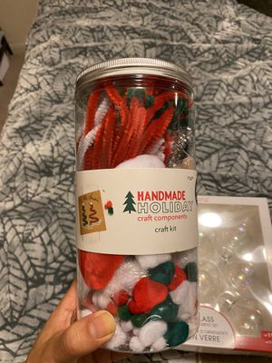 NEW - Glass ornaments and holiday craft kit (unused) for Sale in Plano, TX