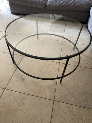 Glass circle coffee table - black for Sale in Lake Worth, FL