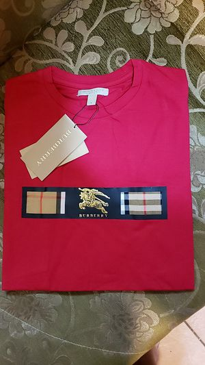 New Burberry Red T shirt for men Small for Sale in Jersey City, NJ
