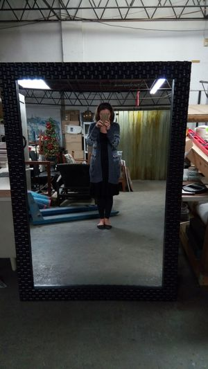 Woven Espresso Mirror for Sale in Tampa, FL