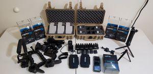 GoPro Hero 5 Black Bundle (4) Cameras Total- Accessories-Waterproof for Sale in Pekin, IL