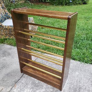 Vintage book shoe shelf wood & gold for Sale in Orlando, FL