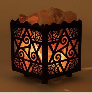CRYSTAL DECOR Himalayan Pink Salt Lamp Basket w Dimmer for Sale in Nashville, TN