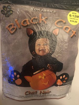 Black Cat Halloween Costume 6-12 month for Sale in Salt Lake City, UT
