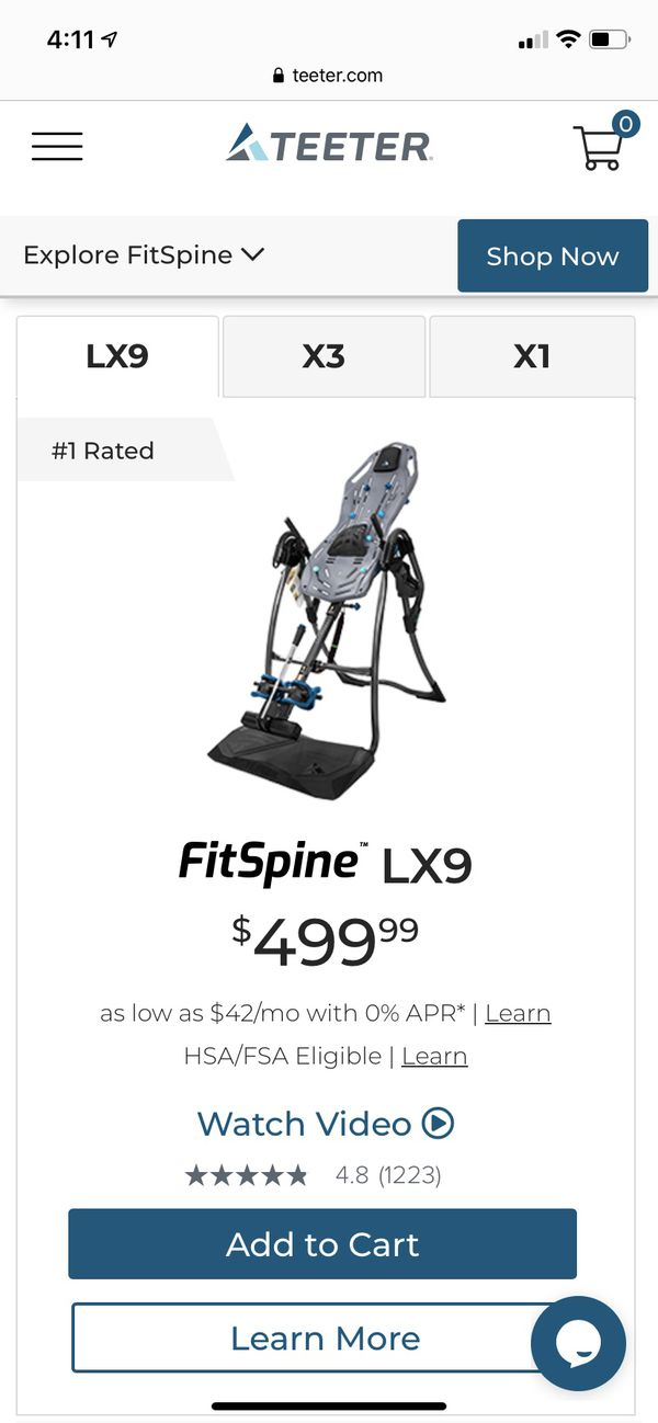New Teeter FitSpine LX9 w/ Vibration Cushion & Remote