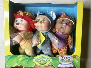 Brand New Cabbage Patch Kids, Zoo friends, 3 Pack collectible cuties for Sale in Phoenix, AZ