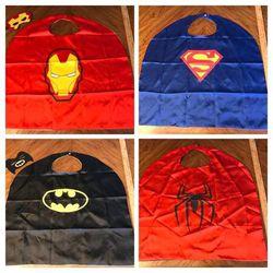 Like New Kid's Superhero Capes (Iron Man, Spider-Man, Batman, Superman) for Sale in Englewood,  NJ
