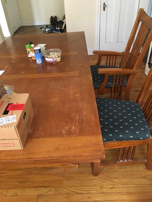 Wooden Dining table set with 4 chairs for Sale in Cleveland, OH
