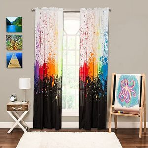 Crayola Cosmic Burst Curtains - 2 panels for Sale in Strathmore, CA