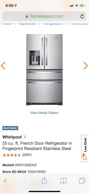 Whirlpool fridge we upgraded and selling this one great condition 700 OBO for Sale in Brentwood, TN