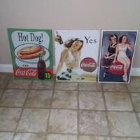Vintage Coke Coca Cola Signs for Sale in Frederick, MD