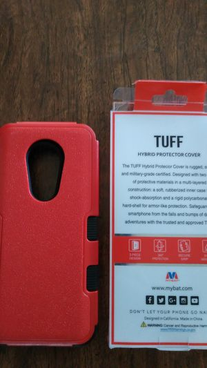 Motorola G7 power tuff hybrid protector cover for Sale in Oshkosh, WI
