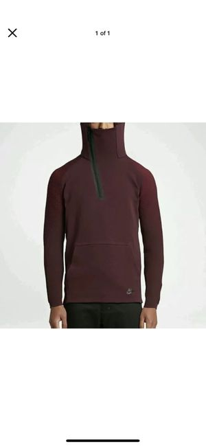 Burgundy Nike tech fleece half zip hoodie sz M for Sale in Las Vegas, NV