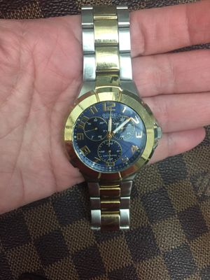 Guess two-tone watch like new battery included for Sale in Miami, FL
