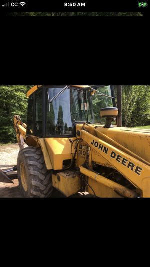 1991 John Deere 4wd back hoe enclosed cab snow removal machine for Sale in New Hartford, CT