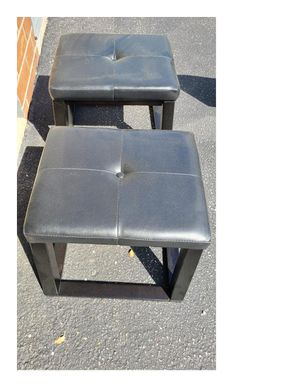 FREE FREE FREE Small Ottoman/Foot Rest And Metal Rack for Sale in Rosedale, MD